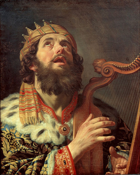 "Gerard van Honthorst, ""King David Playing the Harp"" http://commons.wikimedia.org"