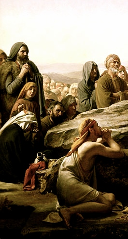 """Image: detail from Carl Bloch, """"Sermon on the Mount"""""""