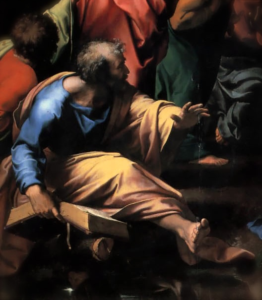 "Detail from Raphael, ""The Transfiguration"""