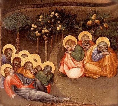 "Detail from Giovanni di Paolo, ""Christ in the Garden of Gethsemane"", Wikimedia Commons"