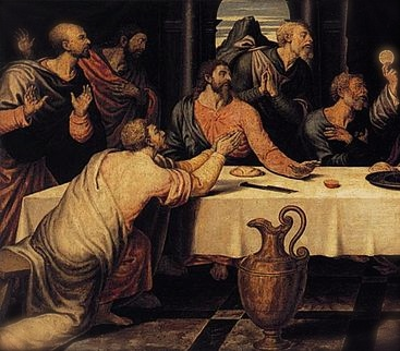 "Detail from Juan de Juanes, ""The Last Supper"", Wikimedia Commons"
