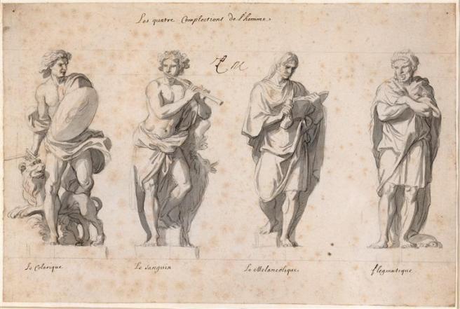 "Charles le Brun-Grande, ""Les Quatre Temperaments"" en.wikipedia.org/wiki/Four_temperaments"