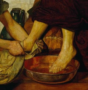 "Detail from Ford Madox Brown, ""Jesus Washing Peter's Feet"", Tate Online"