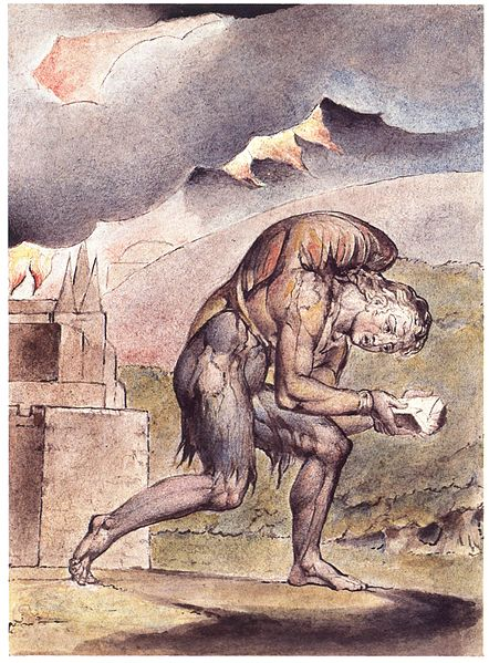 """William Blake, """"Christian Reading in His Book"""" Wikimedia Commons"""