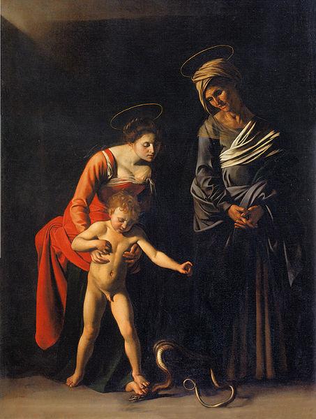 """Michelangelo Merisi di Caravaggio, """"Madonna dei Palafrenieri"""" en.wikipedia.org"""