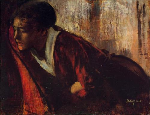 """Melancholy"" by Edgar Degas Wikipaintings.org"