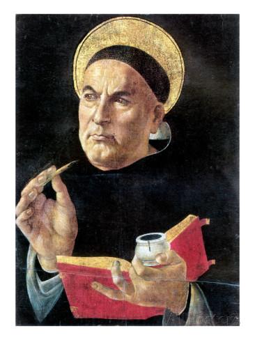 """""""St Thomas Aquinas"""" by Sandro Botticelli"""