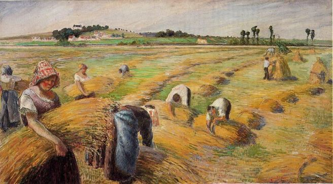 "Camille Pissarro, ""The Harvest"" Wikimedia Commons"