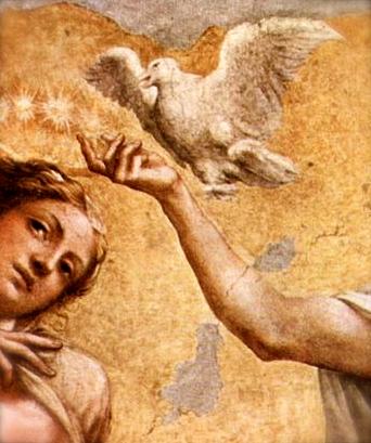 Detail from a painting by Antonio da Correggio Wikimedia Commons