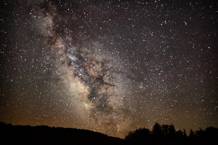 Image of the Milky Way from Summit Lake, West Virginia, ForestWander Wikimedia Commons