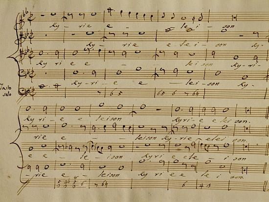 Image: Score of Palestrina's Kyrie Eleison myartprints.co.uk