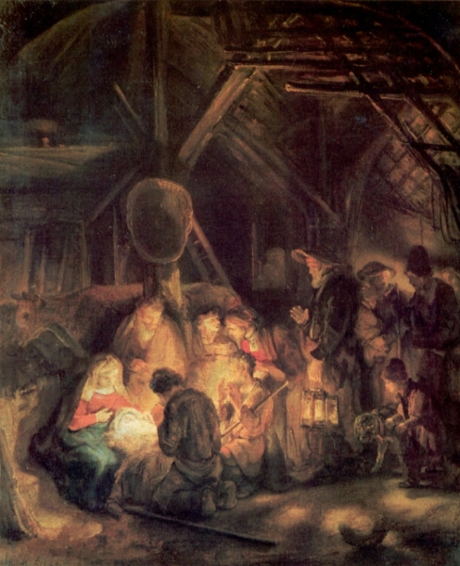 Rembrandt van Rijn - Adoration of the Shepherds