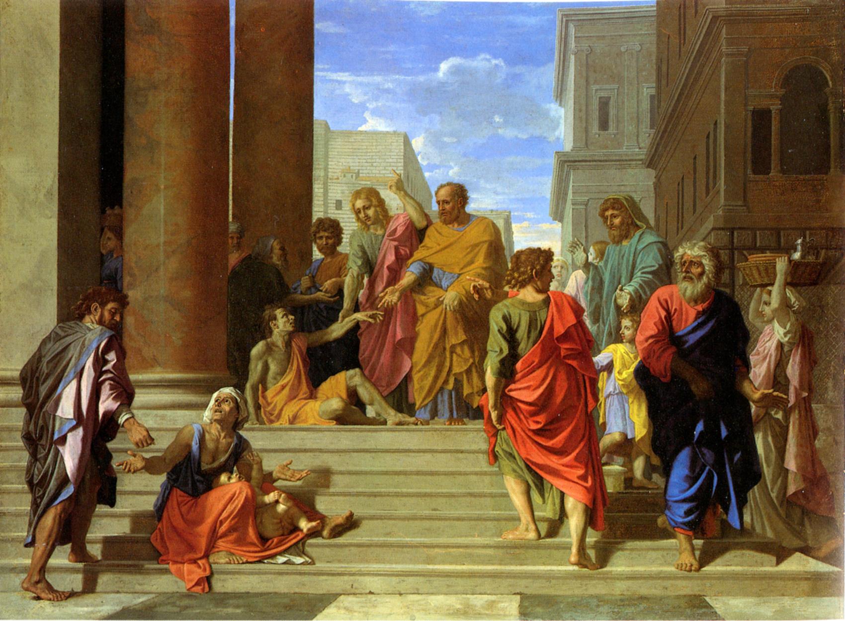 Nicolas Poussin - Saint Pierre et saint Jean guérissant le boiteux, 1655