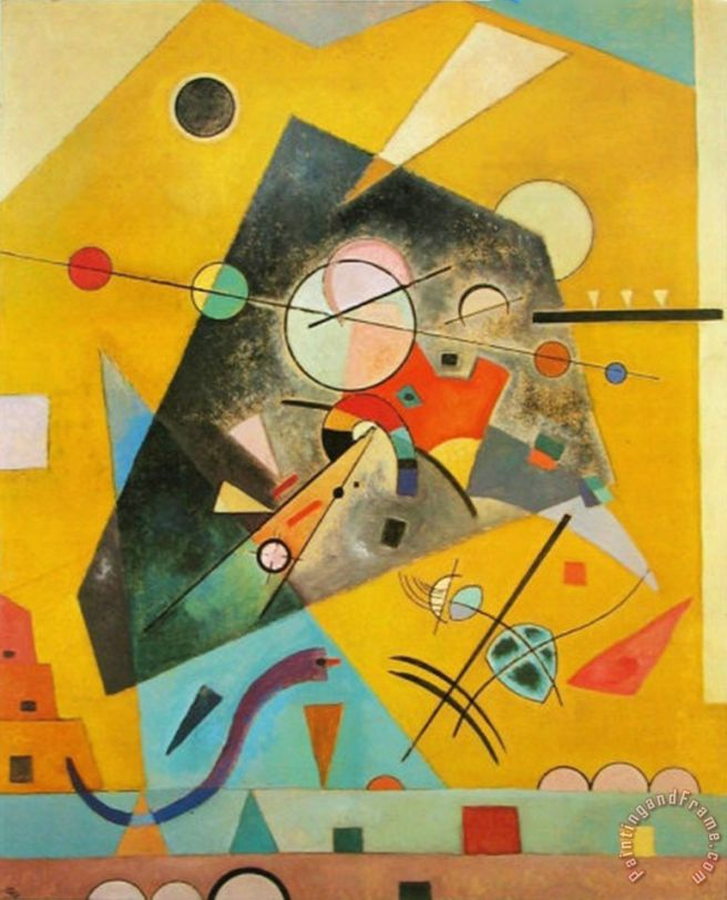 Silent Harmony Painting by Wassily Kandinsky; Silent Harmony Art Print for sale