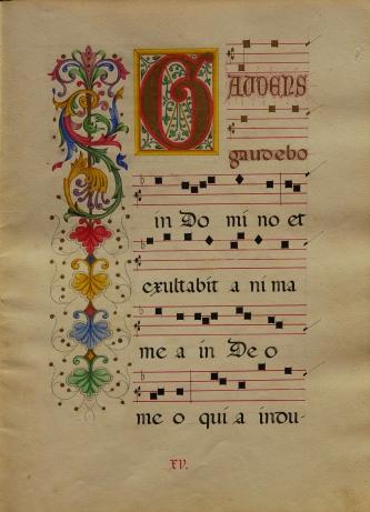 Liber_choralis_S.Leonardi_(MCM),_XV_Gaudens_gaudebo