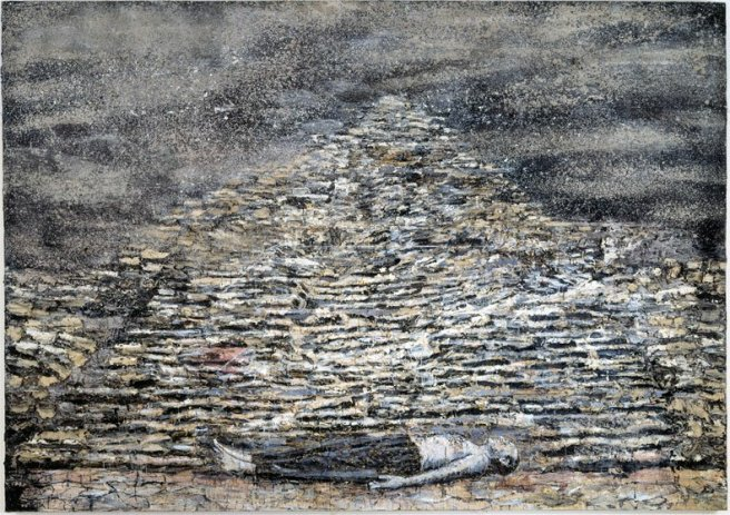 Anselm Kiefer - Man under a pyramid